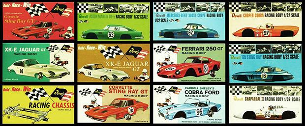 Les voitures Revell au 1/32ème en 1965
