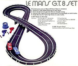 Le premier coffret Scalextric Le Mans en 1974