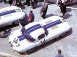 24 heures du Mans 1963 - Jaguar Type E Lightweight #14 - Pilotes : Augie Pabst / Walt Hansgen, - Abandon