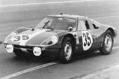 24 heures du Mans 1964 - Porsche 904 GTS #35 - Pilotes : Herbert Müller / Claude Sage - 11ème