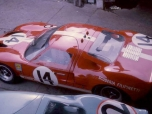 24 heures du Mans 1966 - Ford GT40 #14 - Pilotes : Peter Sutcliffe/ Dieter Spoerry - Abandon