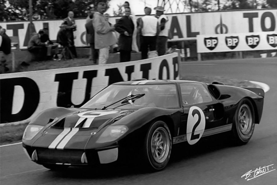 Mc Lawrence Car >> Ford MkII NSR #2 - 24 heures du Mans 1966