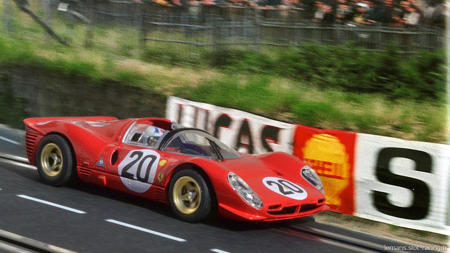 24 heures du Mans 1967 - Ferrari 330 P4 #20 - Pilotes : Chris Amon / Nino Vacarella- Abandon