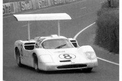 24 heures du Mans 1967 - Chaparral 2F #8 - Pilotes : Bob Johnson / Bruce Jennings - Abandon