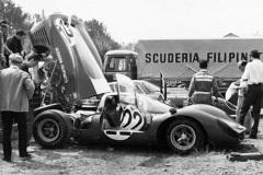 24 heures du Mans 1967 - Ferrari 412P #22 - Pilotes : Jean Guichet / Herbert Müller - Abandon