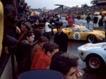 24 heures du Mans 1968 - Ford GT40 #8 - Pilotes : Willy Mairesse / Jean Blaton 'Beurlys' - Abandon