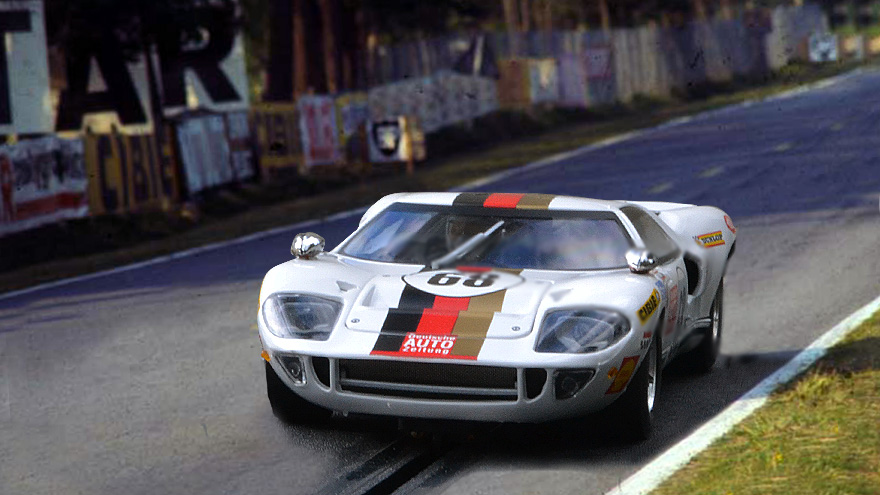 Ford gt40 fly 68 24 heures du mans 1969 for Garage automobile le mans