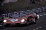 24 heures du Mans 1970 - Ferrari 512S #7 - Pilotes : Ronnie Peterson / Derek Bell - Abandon