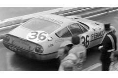 24 heures du Mans 1972 - Ferrari 365 GTB4 #36 - Pilotes : Derek Bell / Teddy Pilette / Richard Bond - 8ème